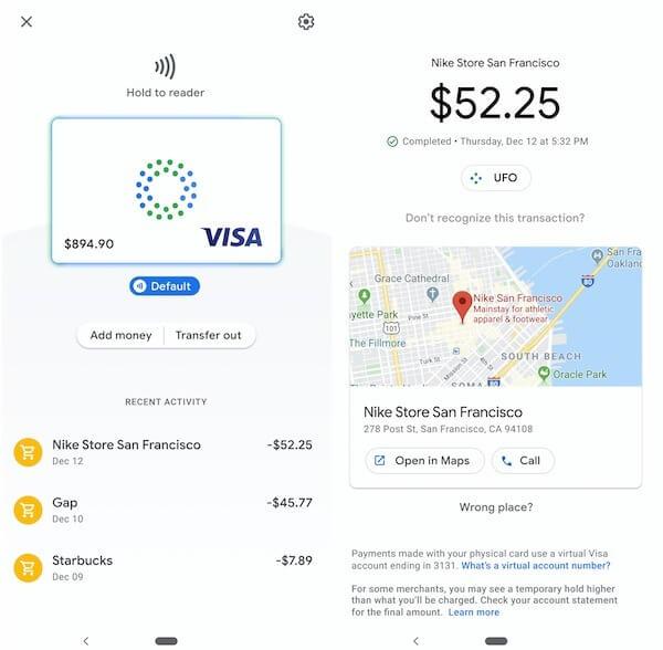 Google Card в приложении Google Pay. Кредит: TechCrunch