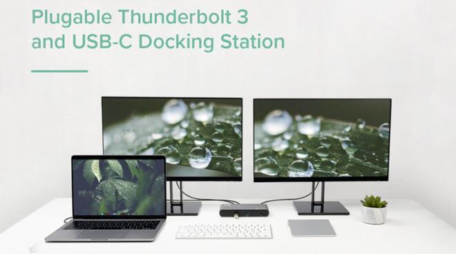 Док-станция с двумя дисплеями Thunderbolt 3 и USB-C