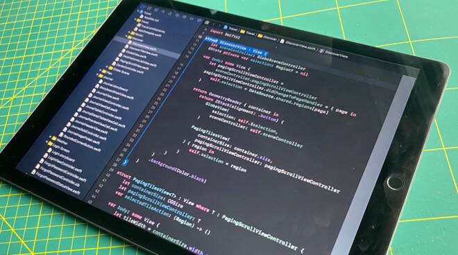 Все приложения для iPad сделаны в XCode, но этот инструмент для разработки еще не на iPad.