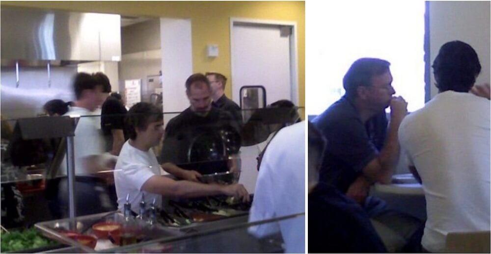 Редкие фотографии показывают, что Стив Джобс обедает с руководителями Google