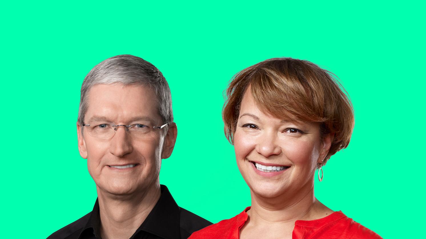 Генеральный директор Apple Тим Кук объявляет об инициативе Лизы Джексон в области расовой справедливости и правосудия на сумму 100 миллионов долларов