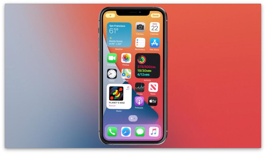 Apple представляет iOS 14 с новым дизайном домашнего экрана, виджетами и многим другим