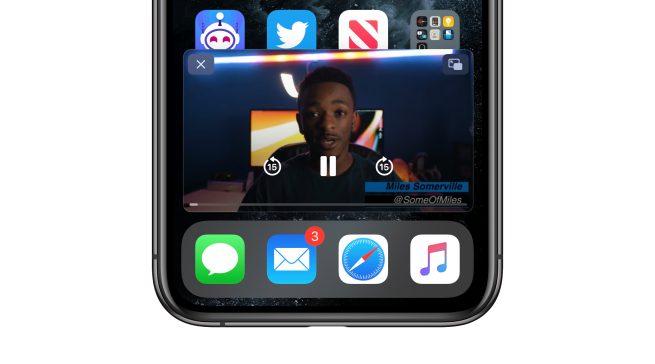 iOS 14: как сделать многозадачность видео в картинке на iPhone