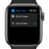 Как изменить макет приложения на главном экране в виде списка или в виде сетки в watchOS 7
