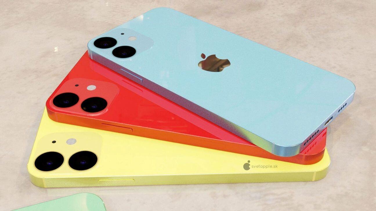 Галерея: Concept представляет 5,4-дюймовый iPhone 12 в нескольких цветовых вариантах