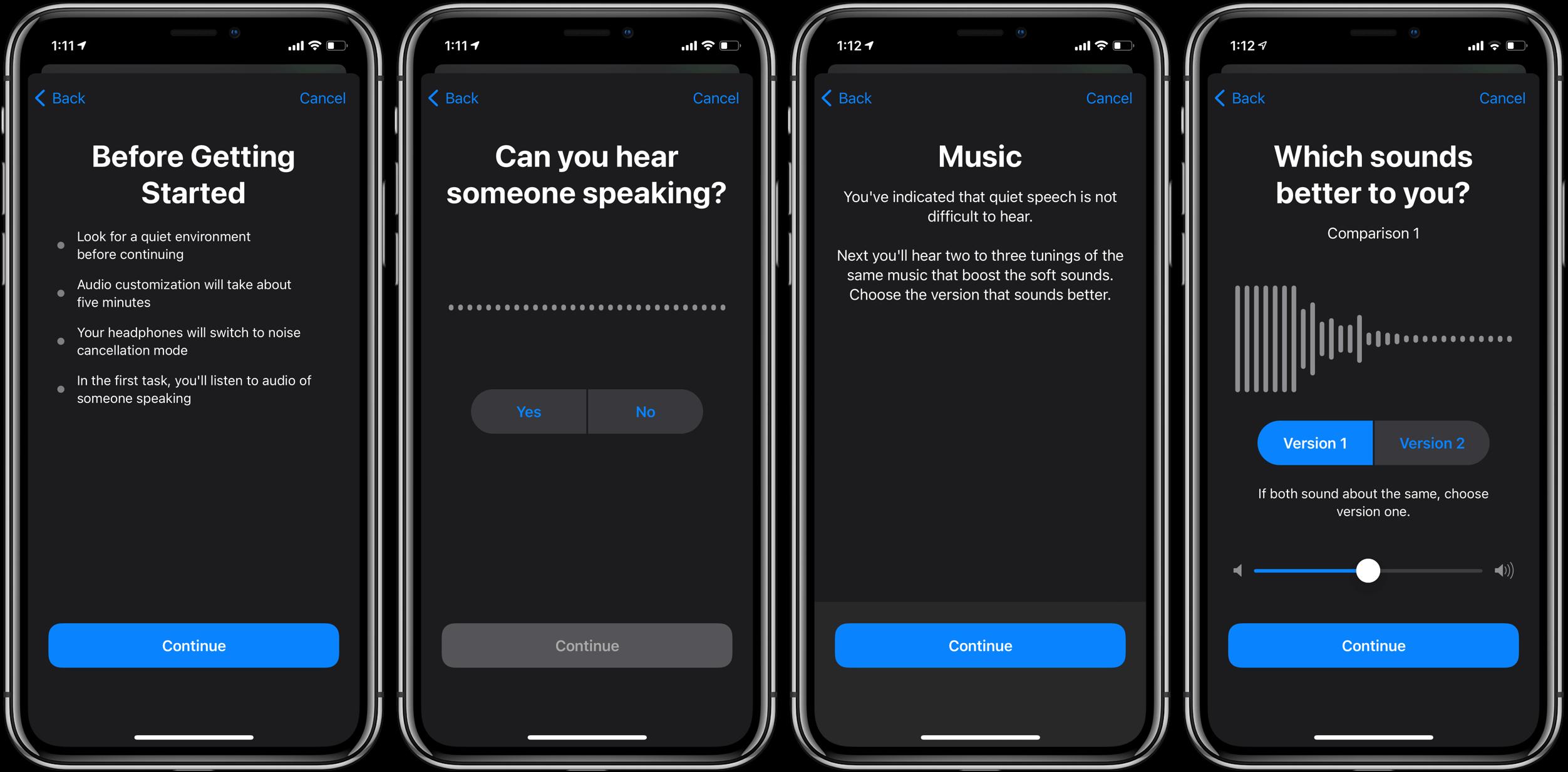 Как настроить звук в наушниках iPhone в iOS 14, пошаговое руководство 3