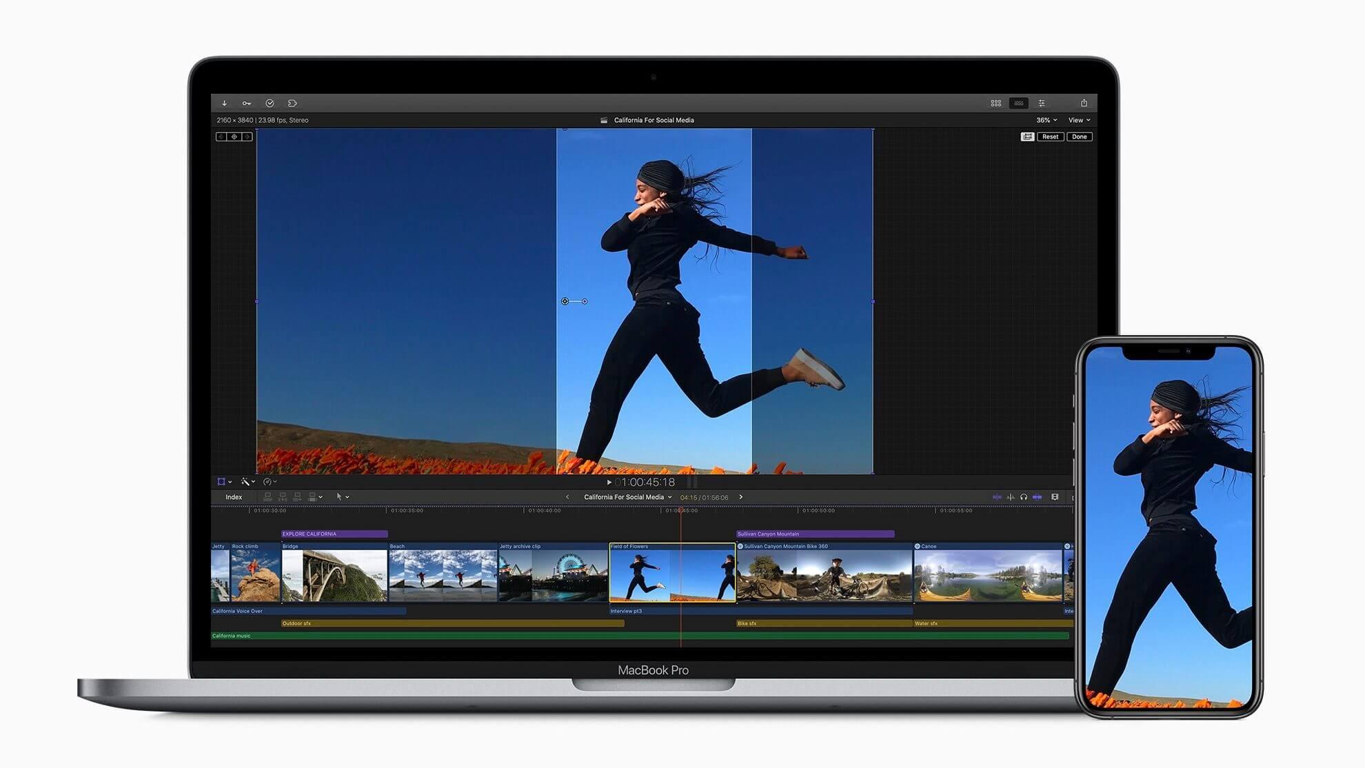 Apple представляет обновление Final Cut Pro X с улучшениями рабочего процесса прокси, повышением производительности и т. Д.