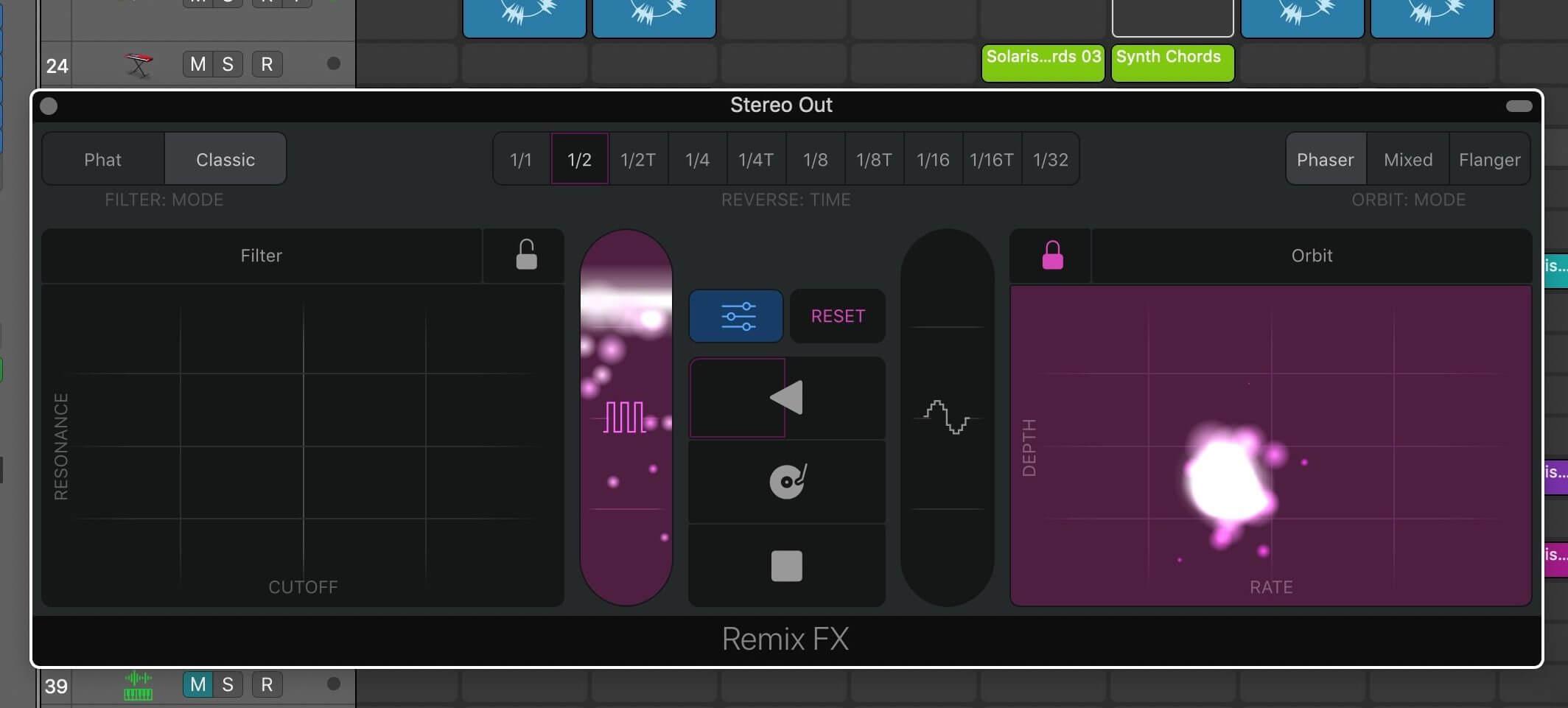 Запись исполнения Remix FX в Logic Pro X 10.5