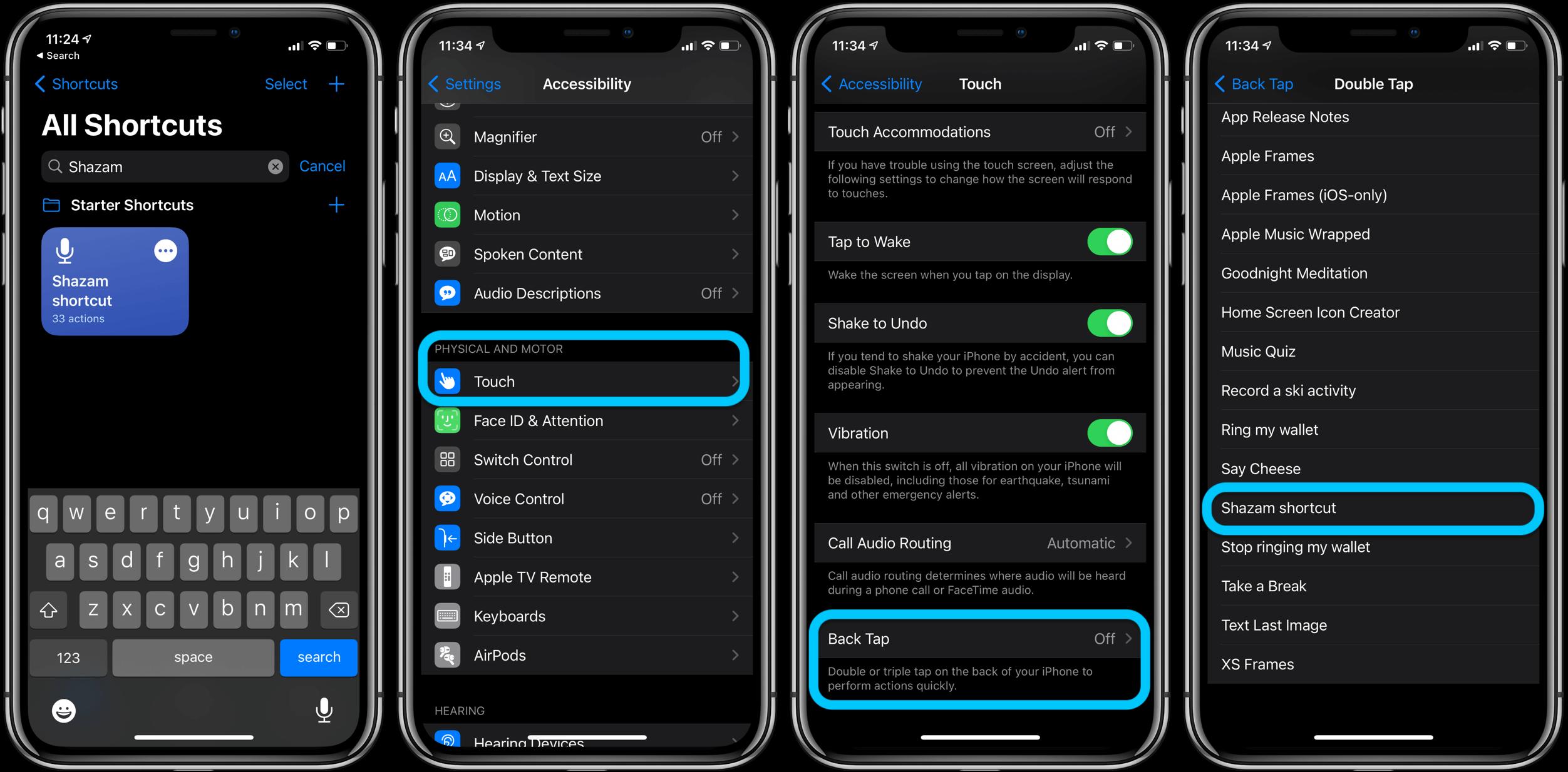 Ярлык Shazam Back Tap iPhone iOS 14