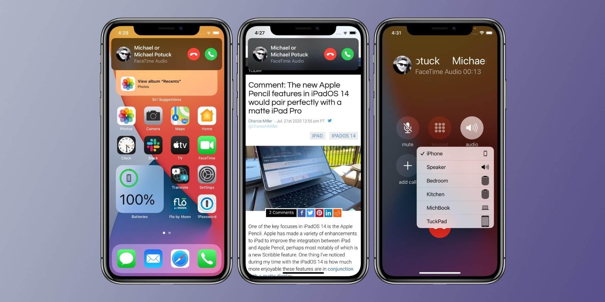 Как использовать интерфейс компактных вызовов iPhone iOS 14