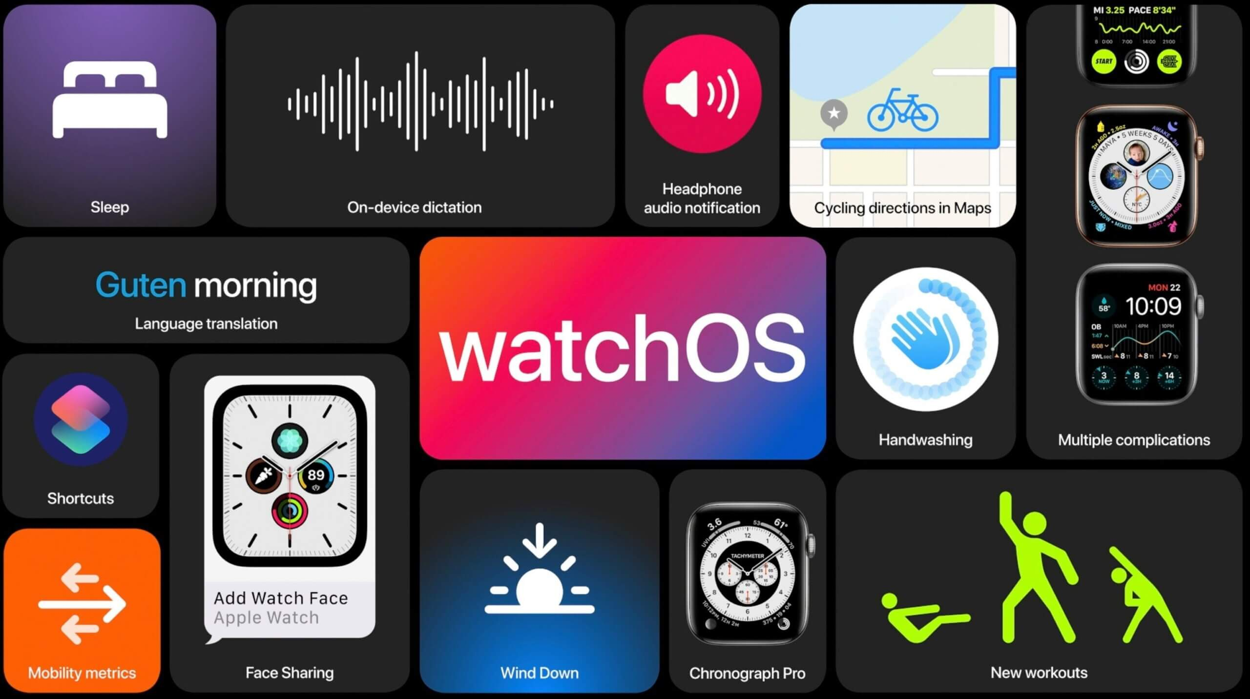 Apple выпускает watchOS 7 с функцией отслеживания сна и другими функциями 16 сентября