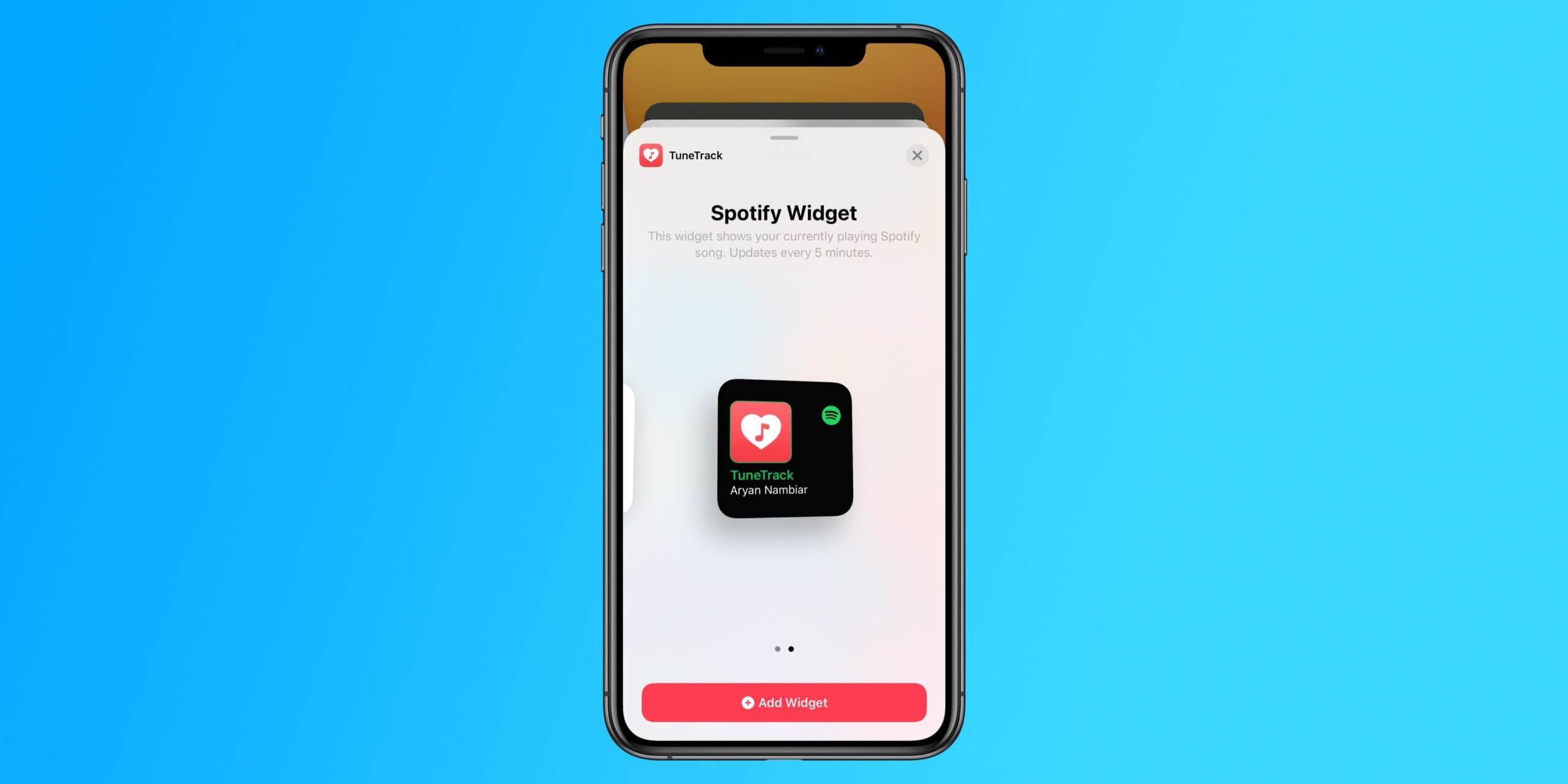 Как добавить виджет Spotify на домашний экран iOS 14