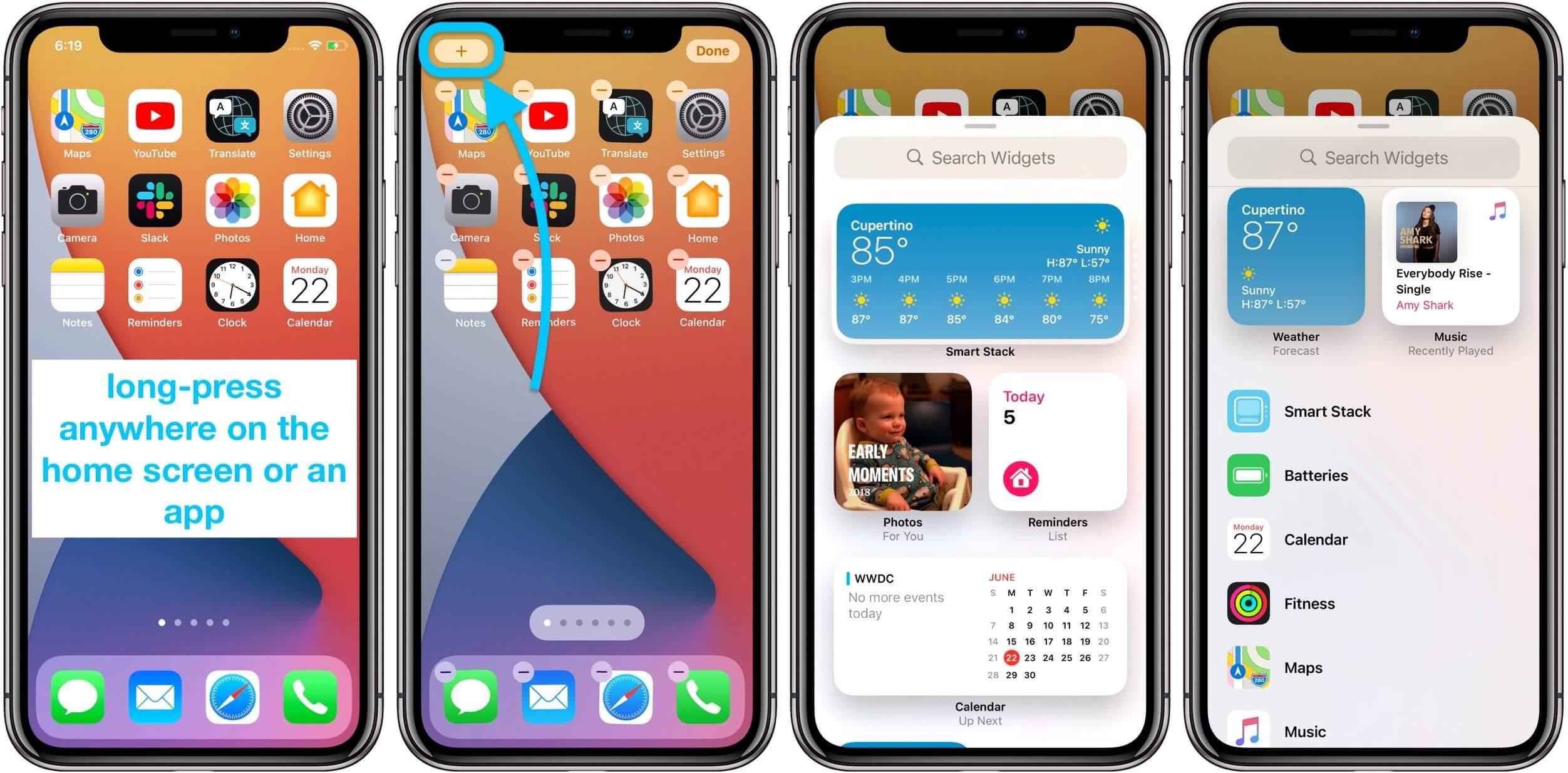 Как использовать виджеты домашнего экрана iPhone Прохождение iOS 14