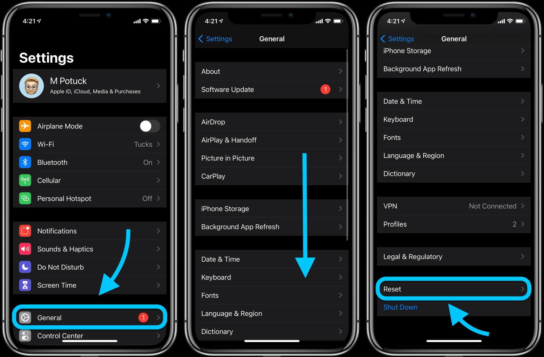 Как восстановить заводские настройки iPhone, пошаговое руководство 1