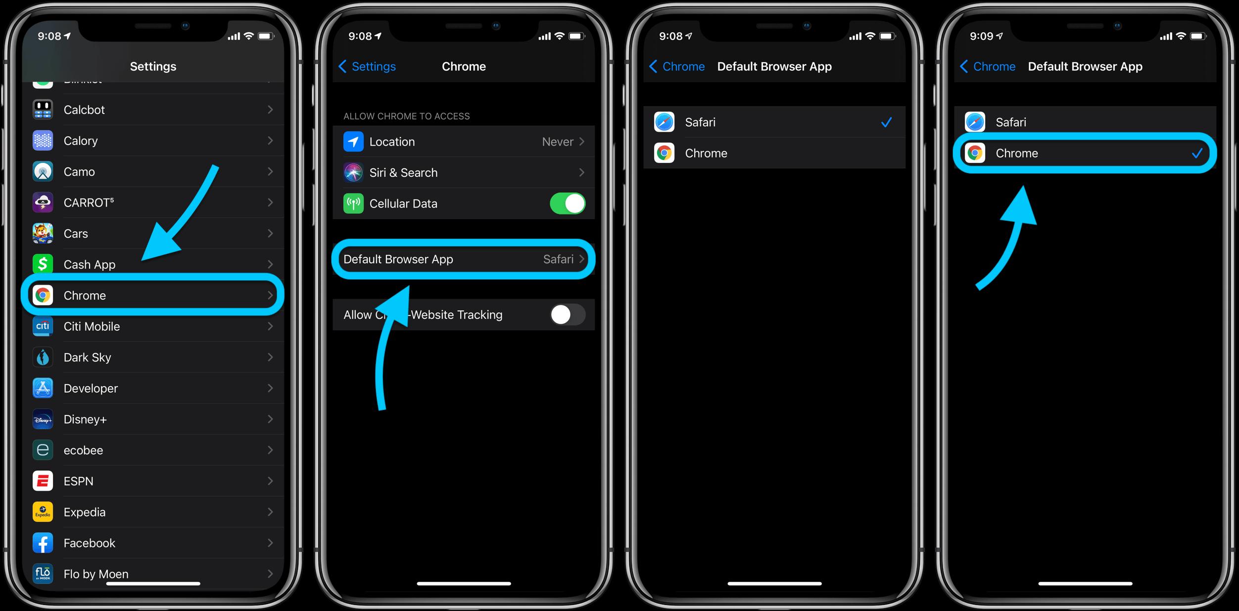 Как изменить электронную почту по умолчанию на iPhone iPad iOS 14