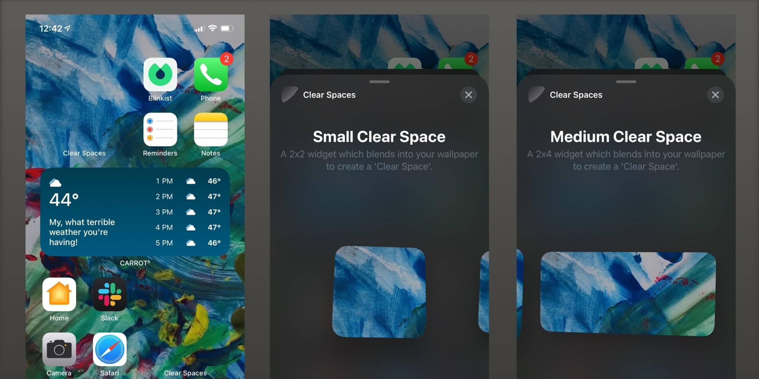 Как сделать виджеты iPhone прозрачными