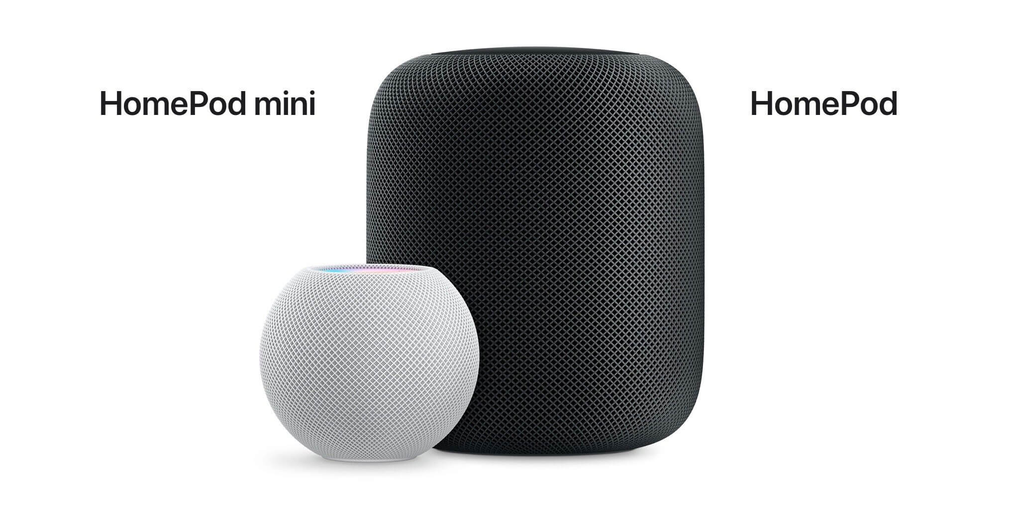 Сравнение HomePod mini и HomePod