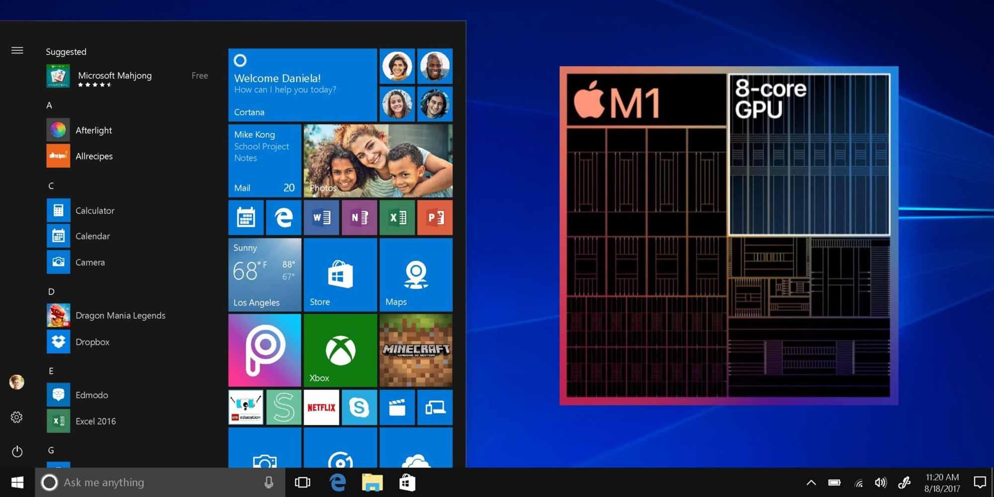 Крейг Федериги говорит, что Windows может работать изначально на компьютерах Mac M1, но «на самом деле это зависит от Microsoft»