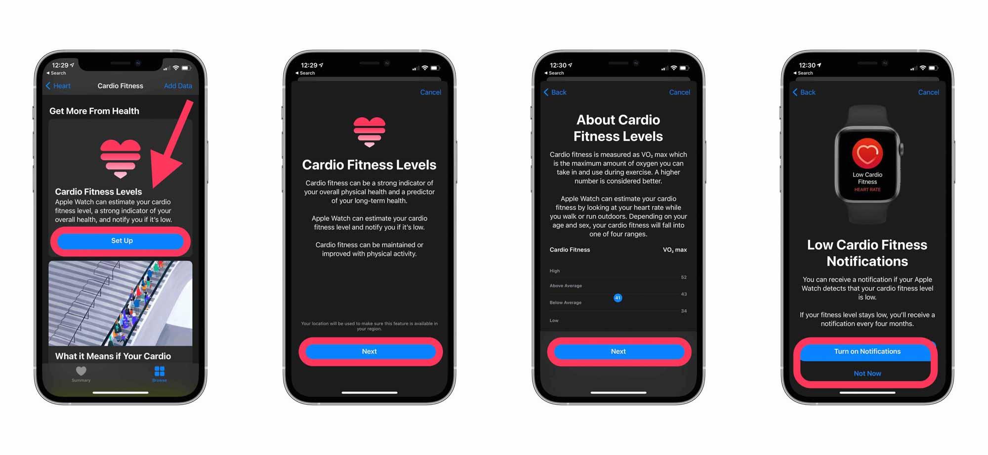 Пошаговое руководство по использованию Cardio Fitness на iPhone и Apple Watch