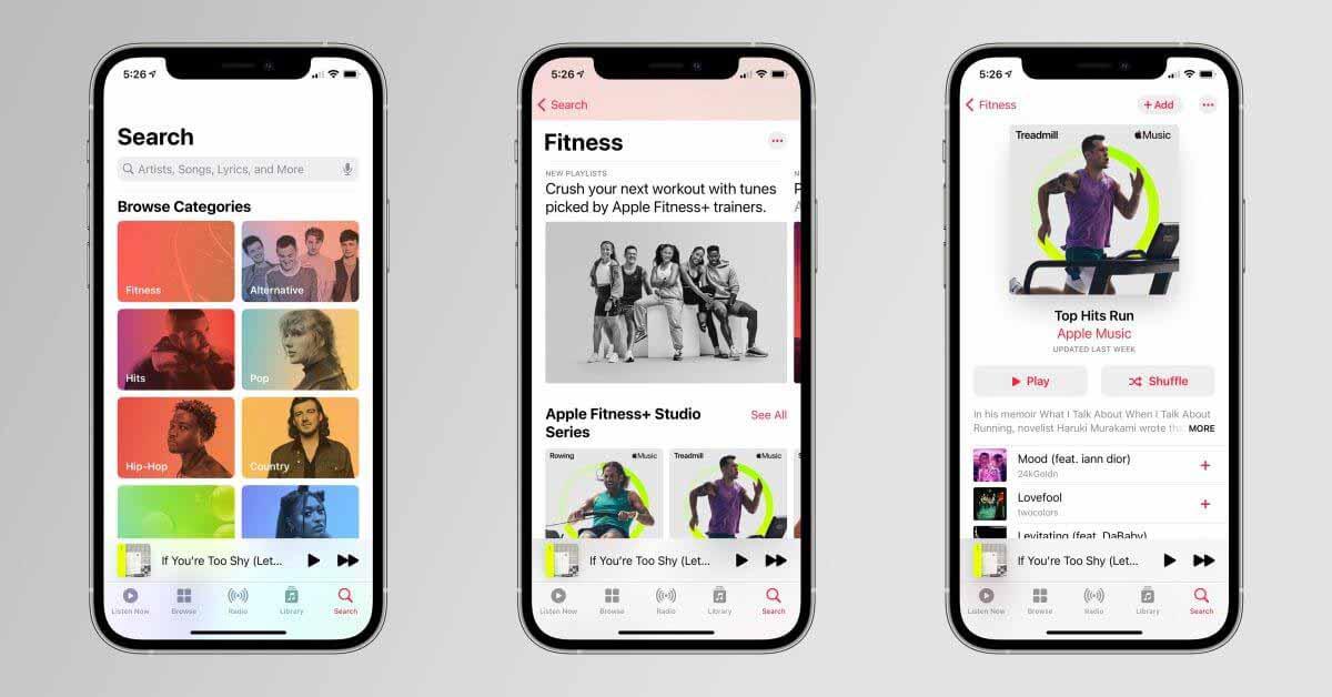 Apple продвигает интеграцию Fitness + и Apple Music с плейлистами Studio Series