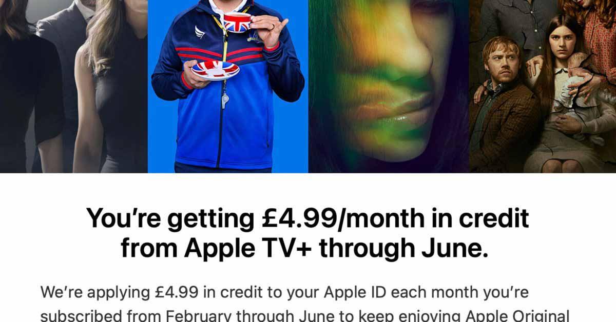 Apple раздает Apple TV + кредиты платежеспособным клиентам по мере продления бесплатных пробных версий