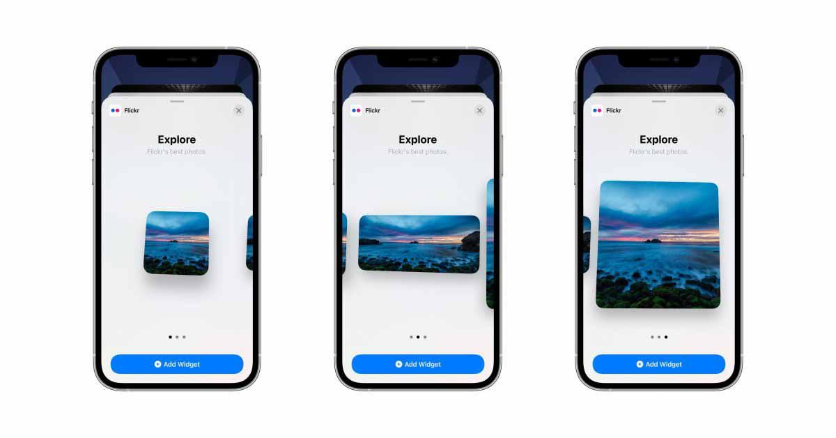 Flickr для iOS добавляет виджеты главного экрана к поверхностным изображениям из Flickr Explore