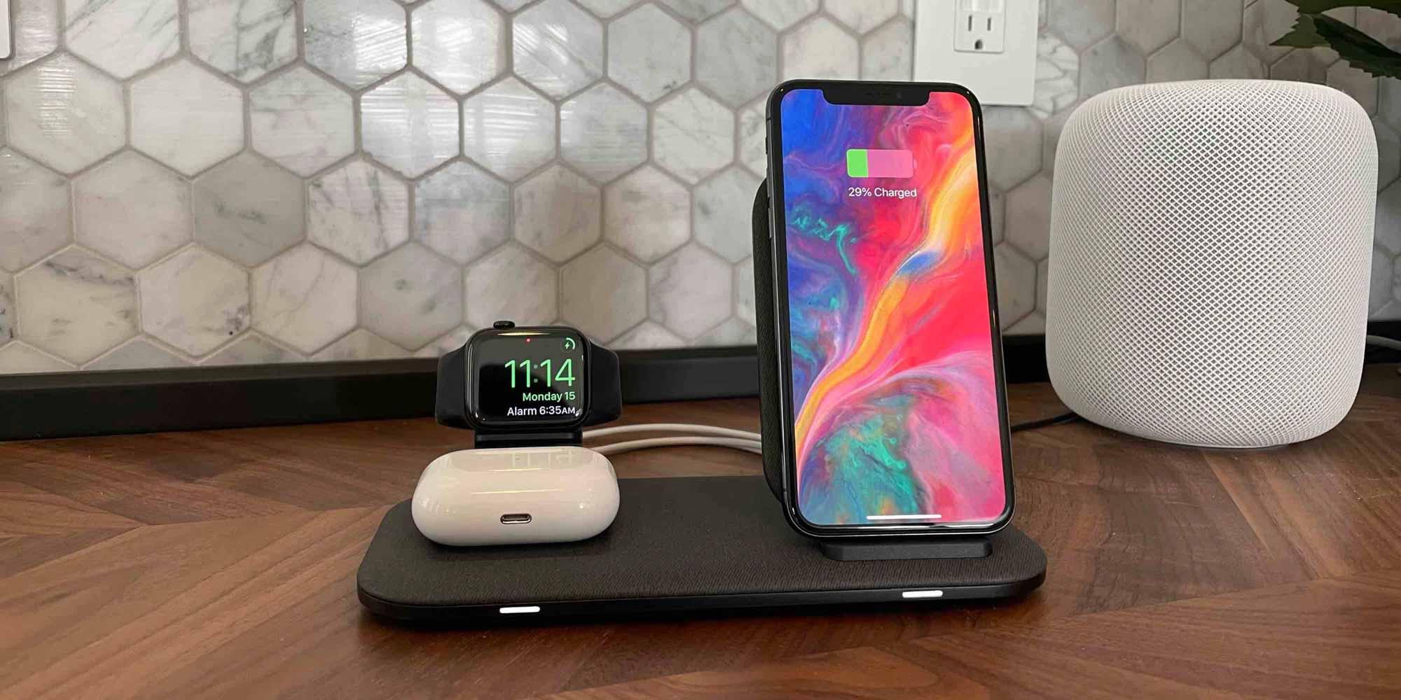 Обзор зарядной станции Mophie + для iPhone, Apple Watch, AirPods , более