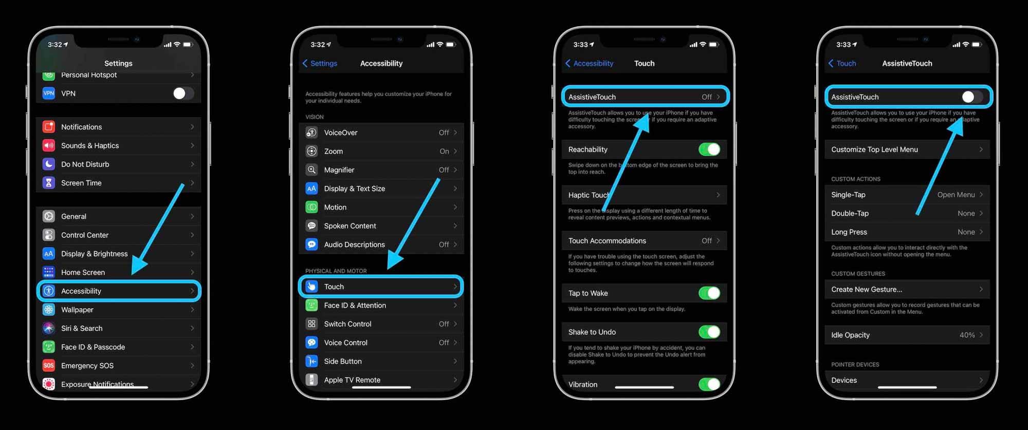 Как выключить iPhone без кнопки, пошаговое руководство - Экран блокировки с AssistiveTouch