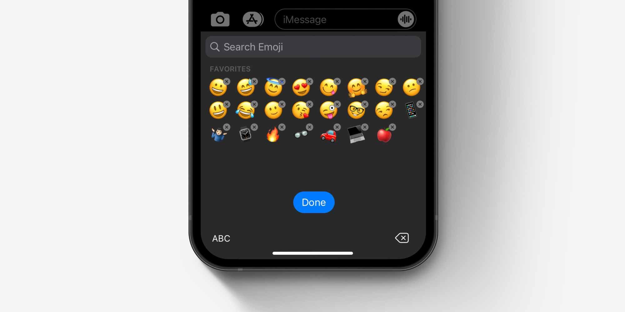 Клавиатура смайлов iOS, как удалить и изменить концепцию смайлов
