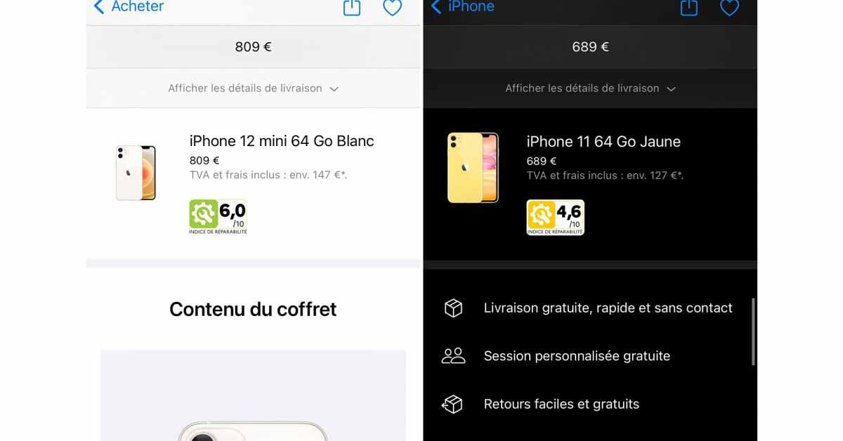 Apple начинает показывать индекс ремонтопригодности iPhone и Mac во Франции