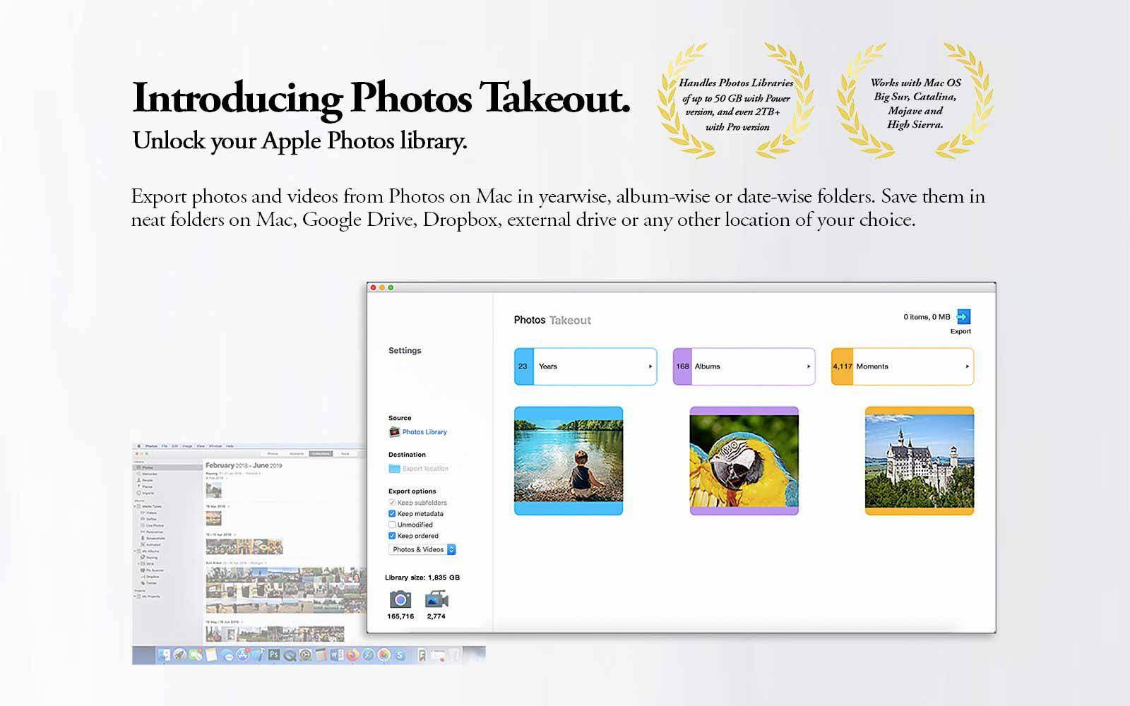 экспортировать фотографии iCloud, используя выносные фотографии