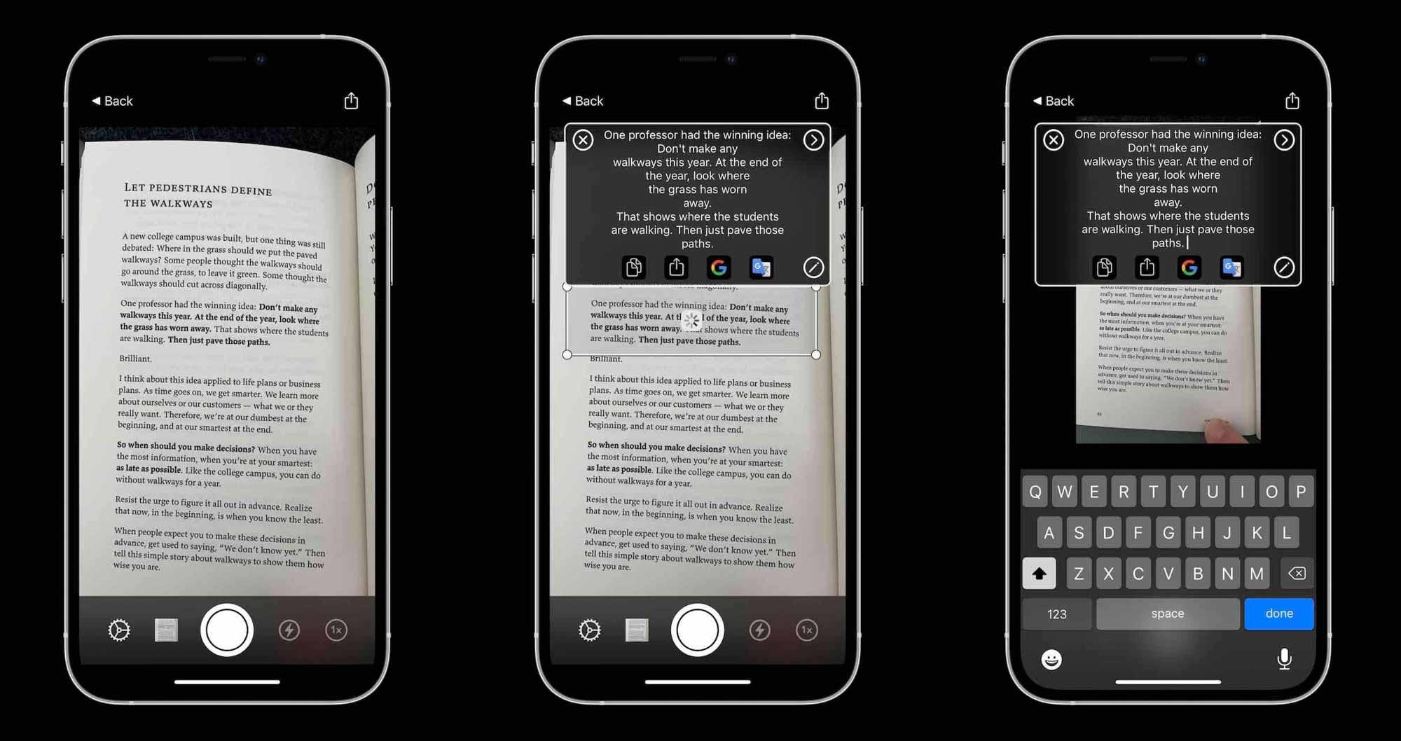 Как преобразовать изображения iPhone в текст - приложение LiveScan