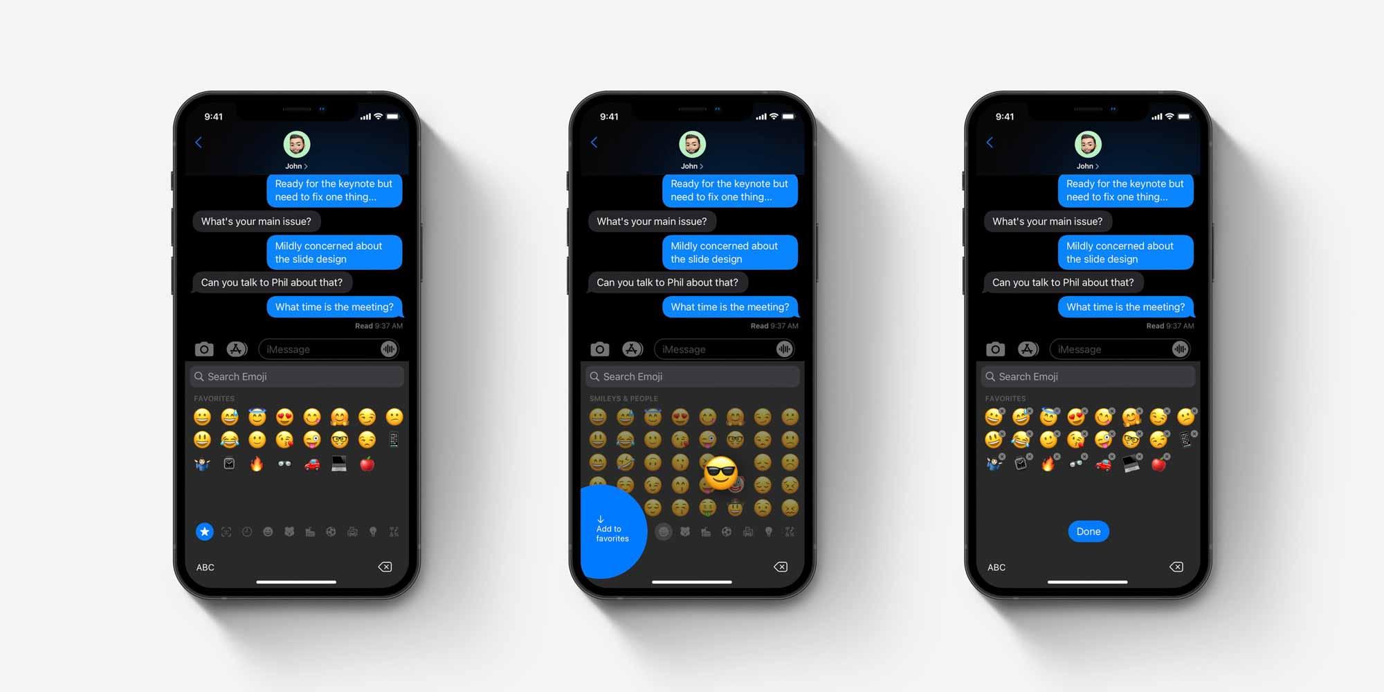 Обзор концепции избранной клавиатуры смайликов iOS