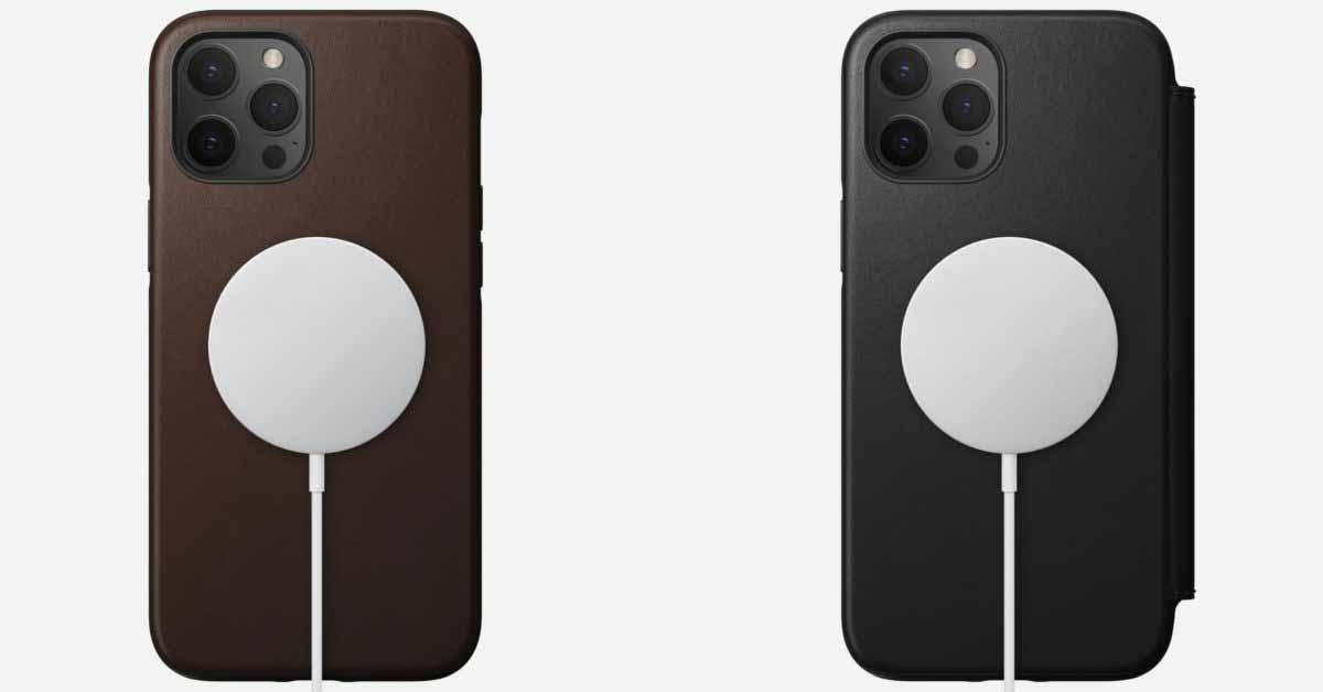 MagSafe входит в кожаный прочный кожаный чехол и фолио Nomad Horween для iPhone 12