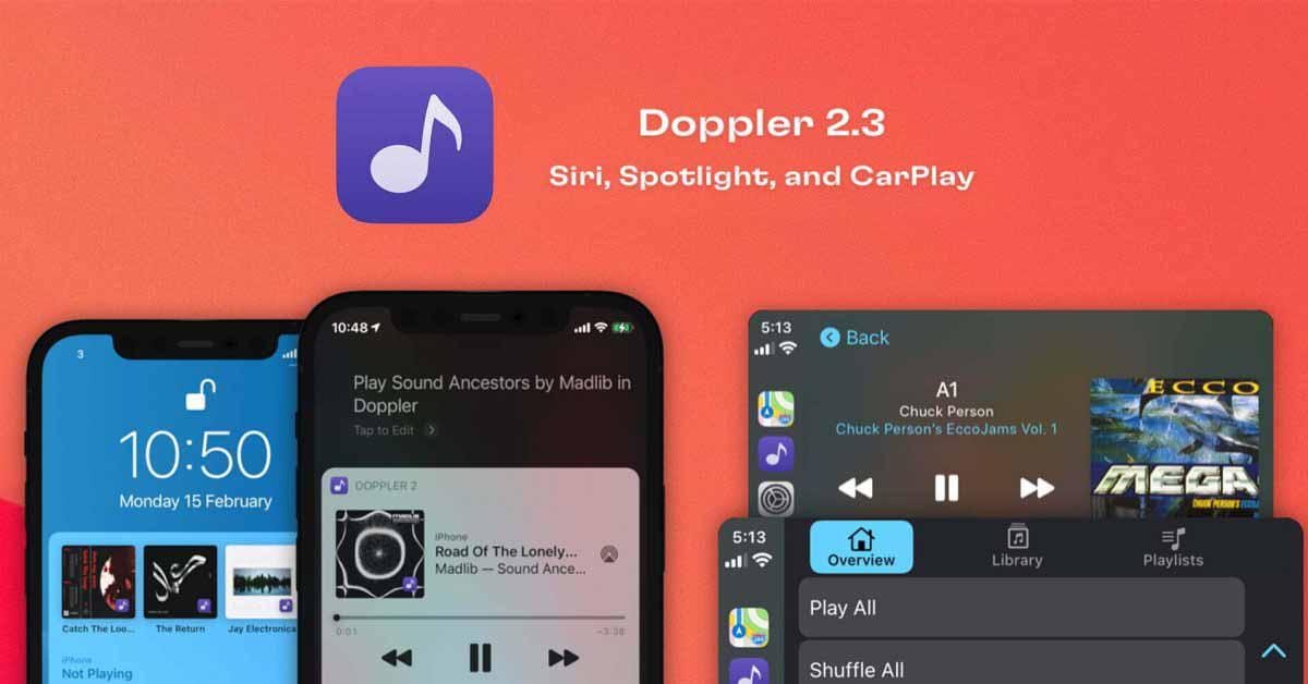 Музыкальный плеер Doppler iPhone FLAC получил приложение CarPlay, поддержку Siri и многое другое
