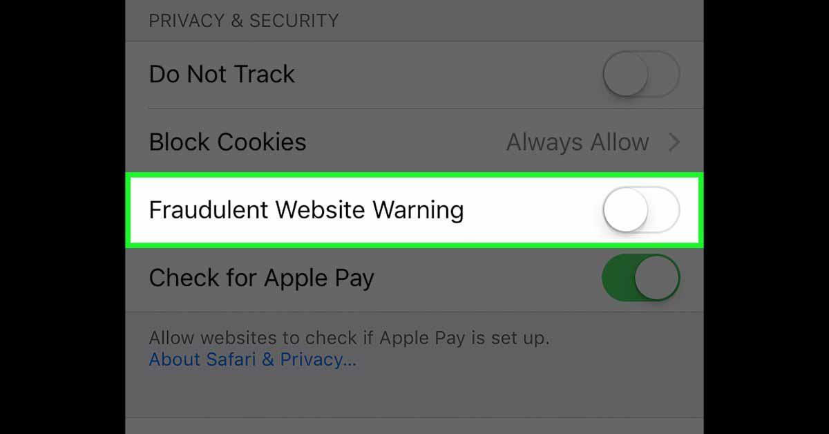 Предупреждение о мошеннических веб-сайтах повышает конфиденциальность в iOS 14.5