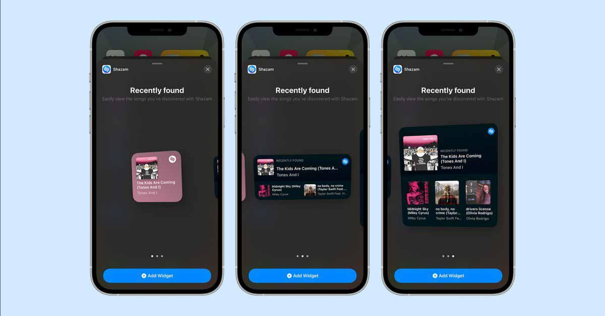 Приложение Shazam для iPhone и iPad обновлено виджетами домашнего экрана iOS 14