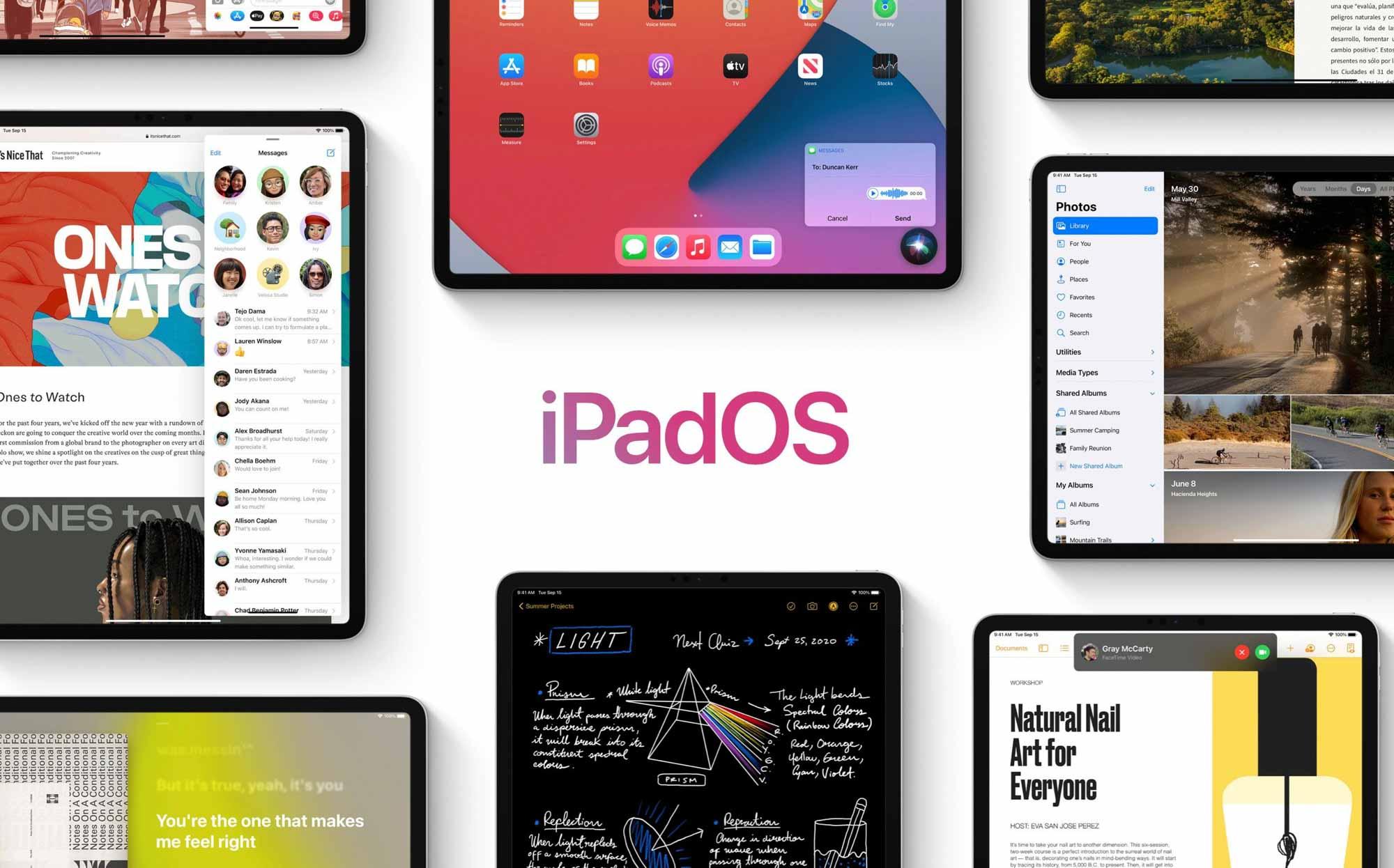 Apple выпускает iPadOS 14 для iPad