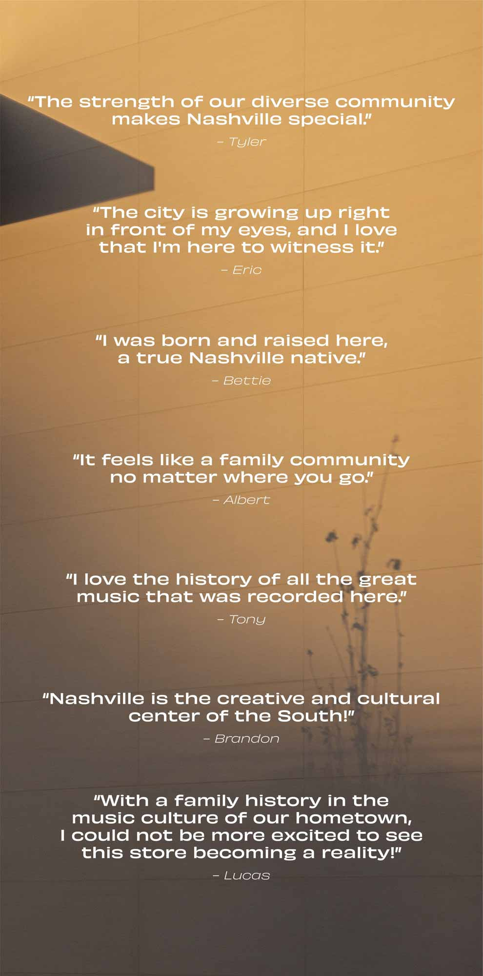 Люди делятся тем, что делает Music City особенным