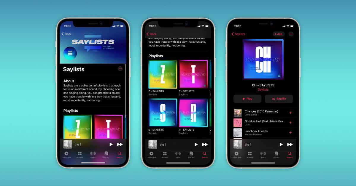 Apple Music запускает Saylists, чтобы помочь людям с нарушениями речи и звука