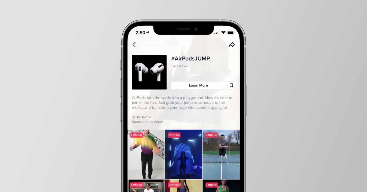Apple превратила кампанию AirPods Pro 'Jump' в вирусную тенденцию с новым испытанием TikTok