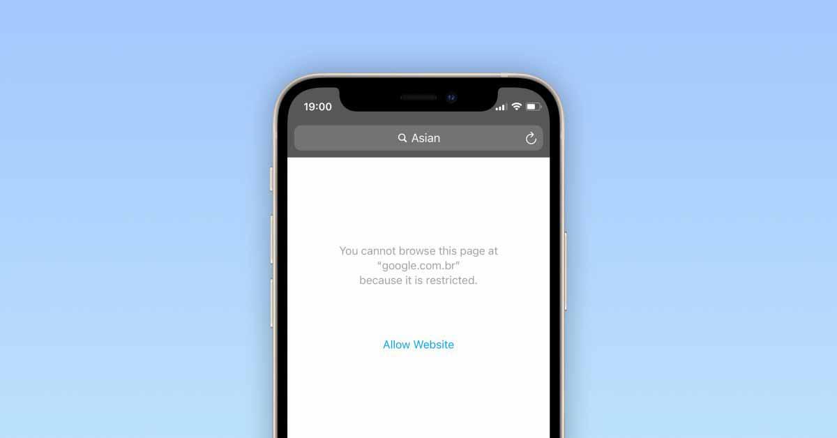 iOS 14.5 больше не блокирует веб-поиск по запросу «азиатский» в Safari с включенными ограничениями по содержанию.