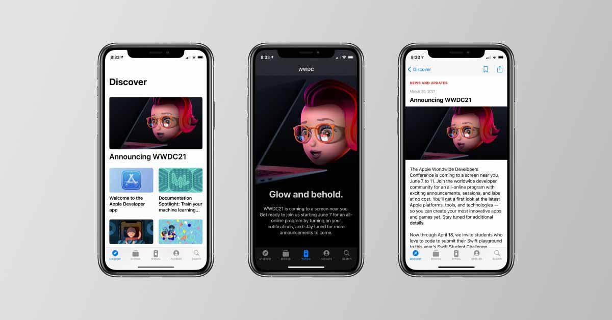 Приложение Apple Developer было переработано после объявления WWDC 2021