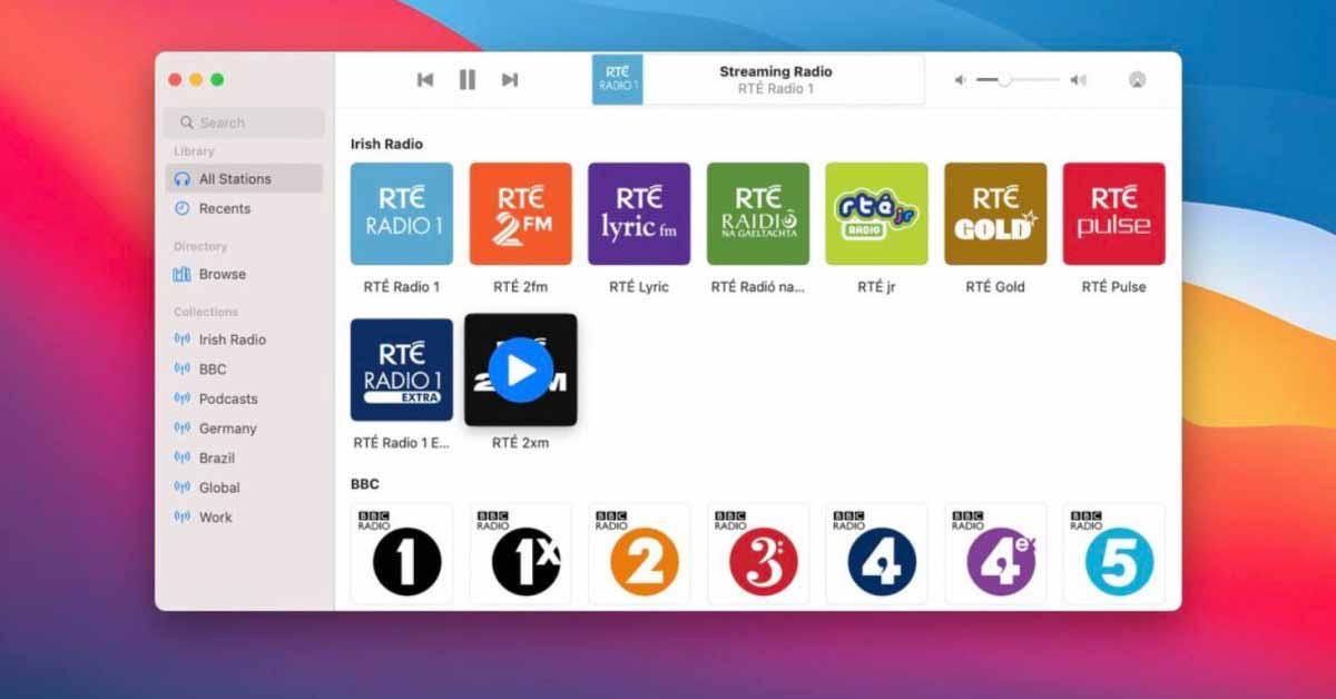 Приложение для потокового вещания радио получает дизайн Big Sur, поддержку M1, средство выбора AirPlay