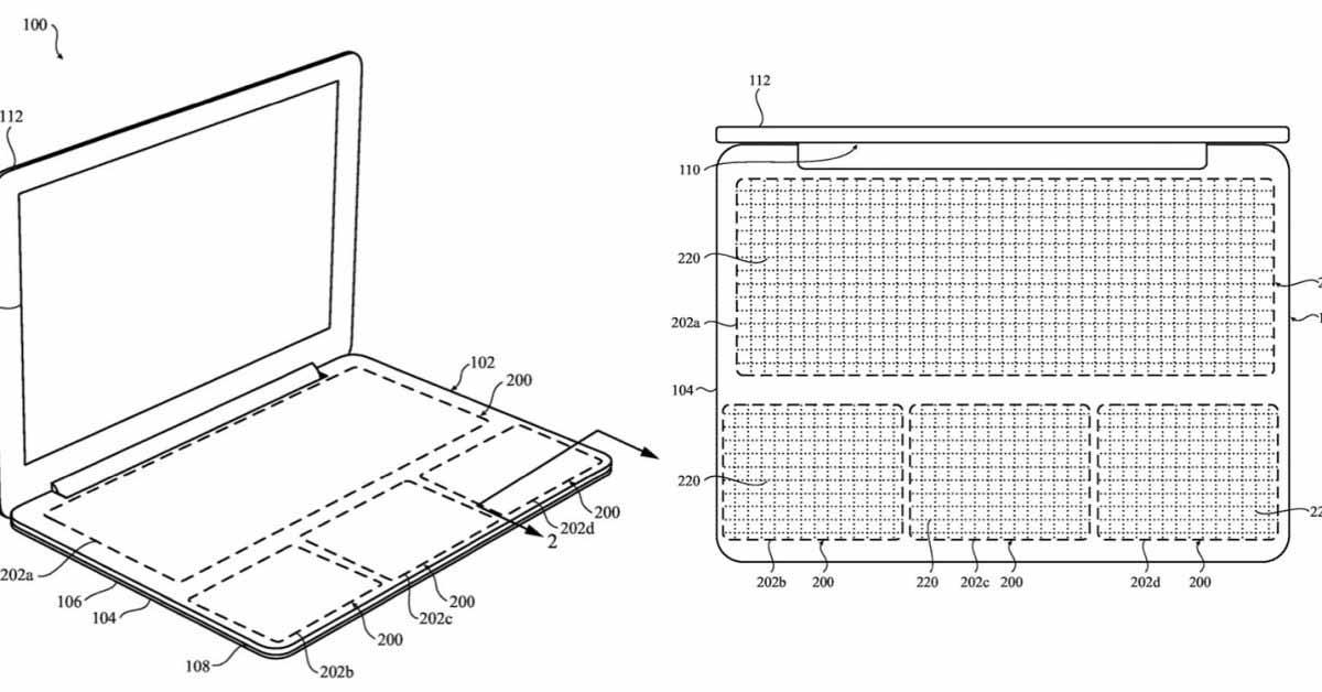 Твердотельная клавиатура для MacBook, показанная в патенте Apple