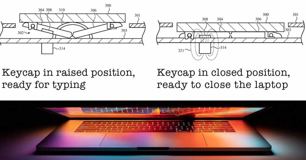 Выдвижная клавиатура может сделать MacBook тоньше