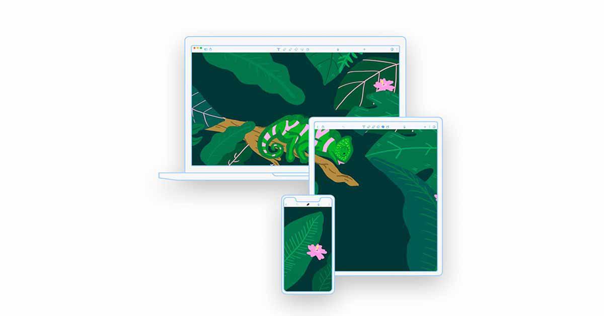 Запущено приложение Notability для заметок на Mac