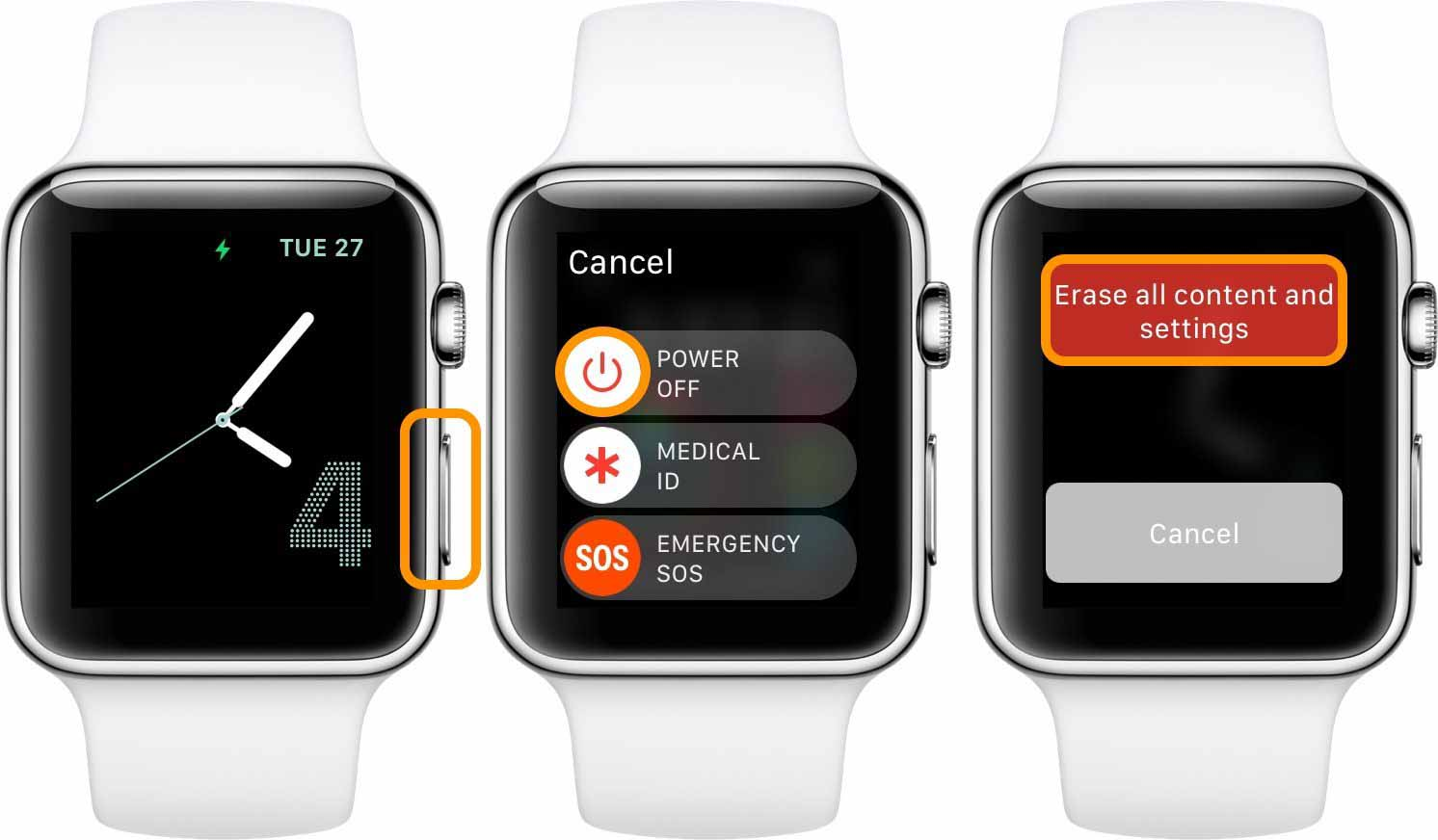 Как разорвать пару между Apple Watch без iPhone