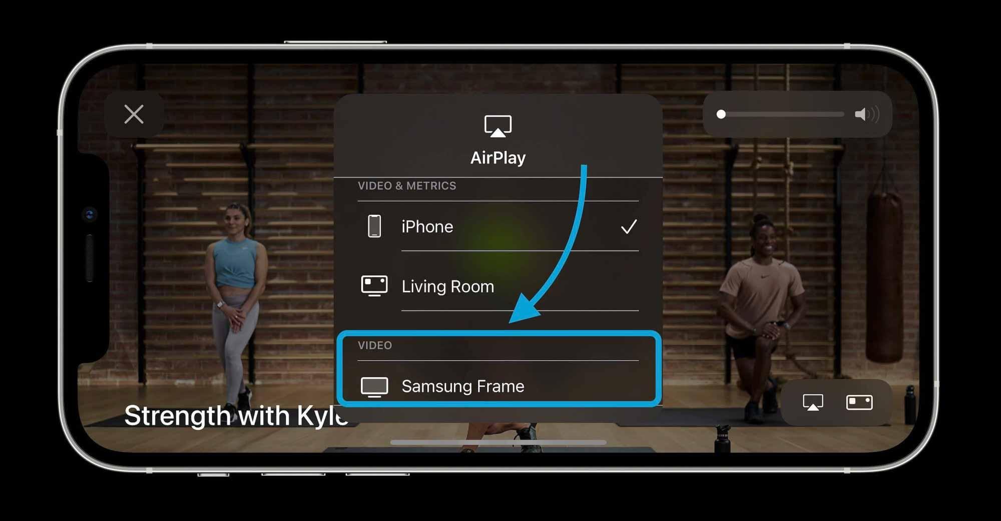 Как AirPlay Apple Fitness+ классы к телевизору - пошаговое руководство 2