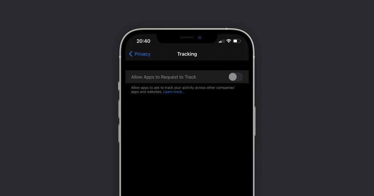 Для некоторых пользователей переключатель прозрачности отслеживания приложений в iOS 14.5 загадочно выделен серым цветом